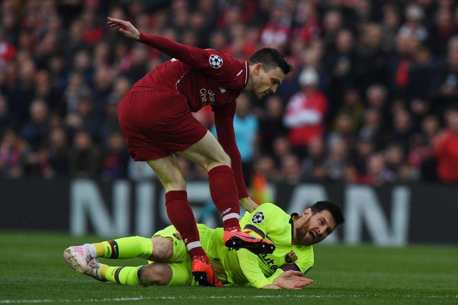 Jugador del Liverpool se arrepiente de haber golpeado a Lionel Messi en la semifinal de la Champions en la que eliminaron al Barcelona