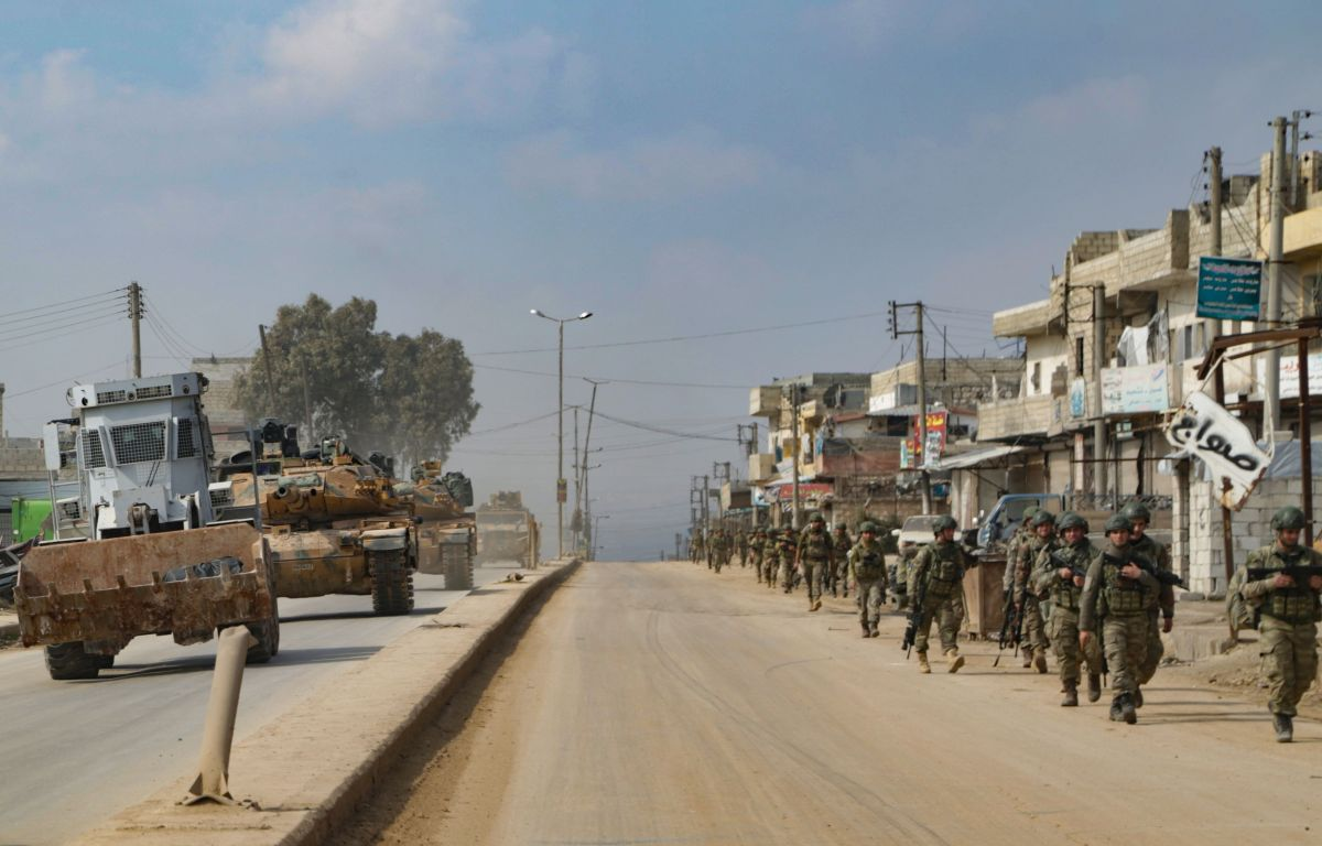 Tropas turcas en Siria.