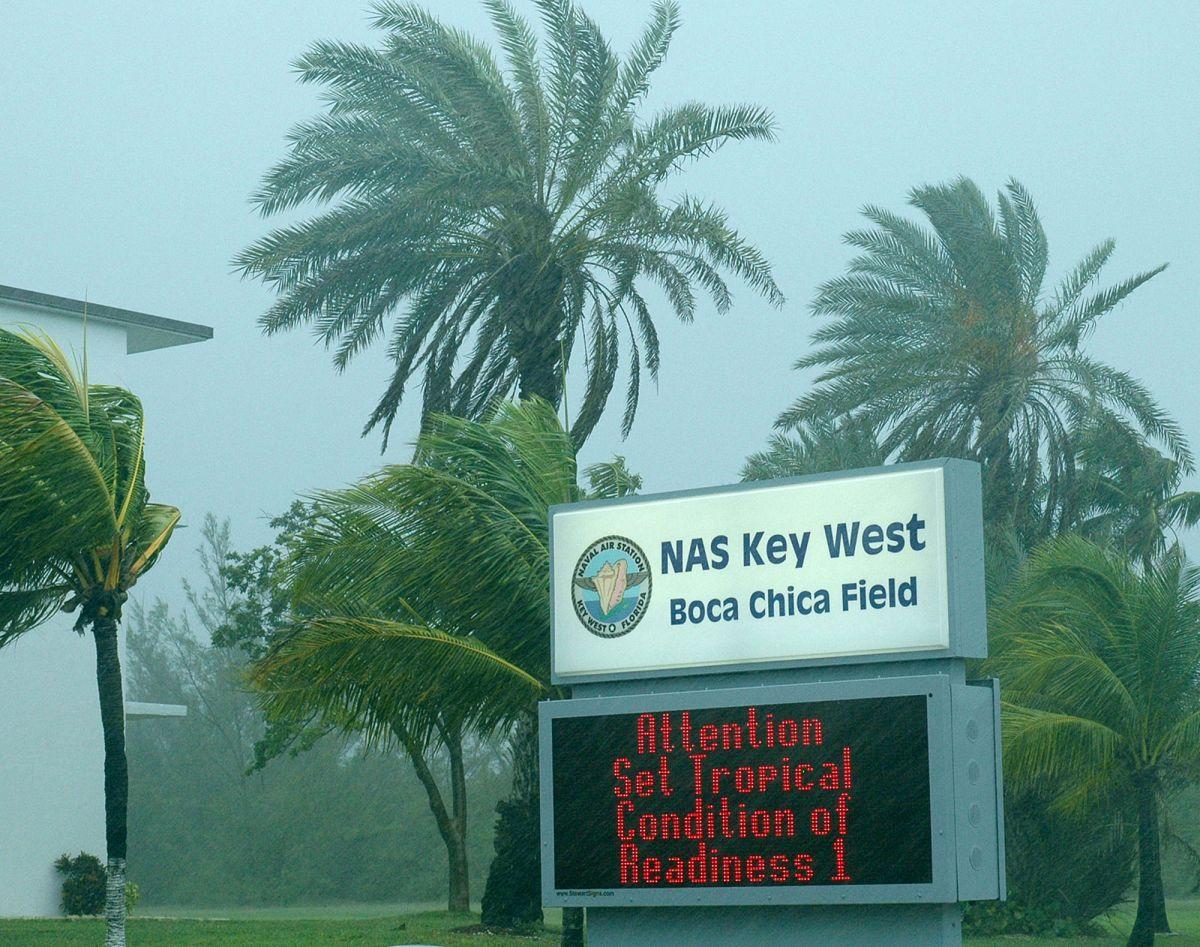 Exterior de la Estación Aérea Naval en Key West (Florida).