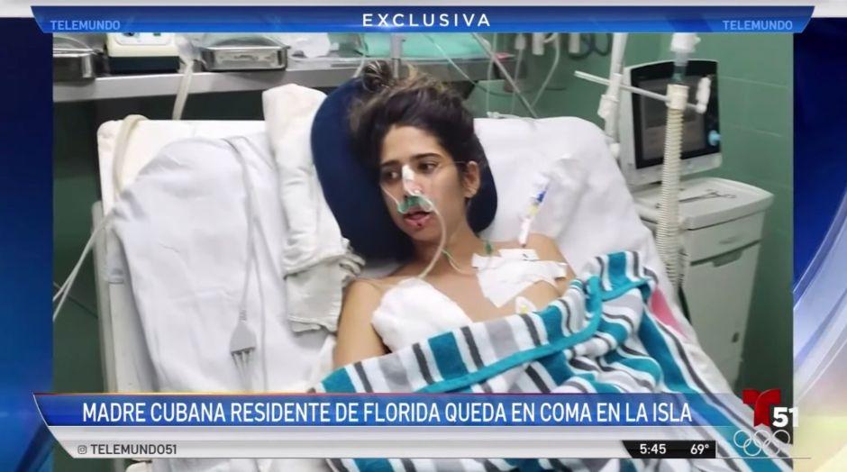 Llega a Miami la joven hispana que cayó en coma mientras visitaba Cuba
