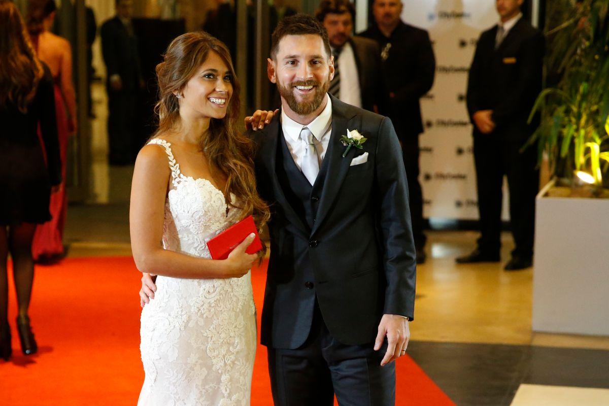 Messi se casó en 2017.