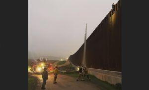 Subió a lo alto del muro fronterizo y ya no pudo bajar