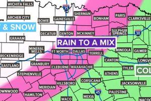 Texas a la espera de un frente frío con posibles acumulaciones de nieve y aguanieve