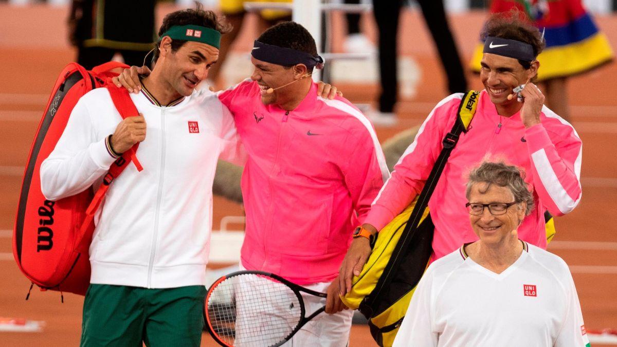 """El choque fue bautizado """"The Match in Africa"""", organizado por la Fundación Roger Federer."""