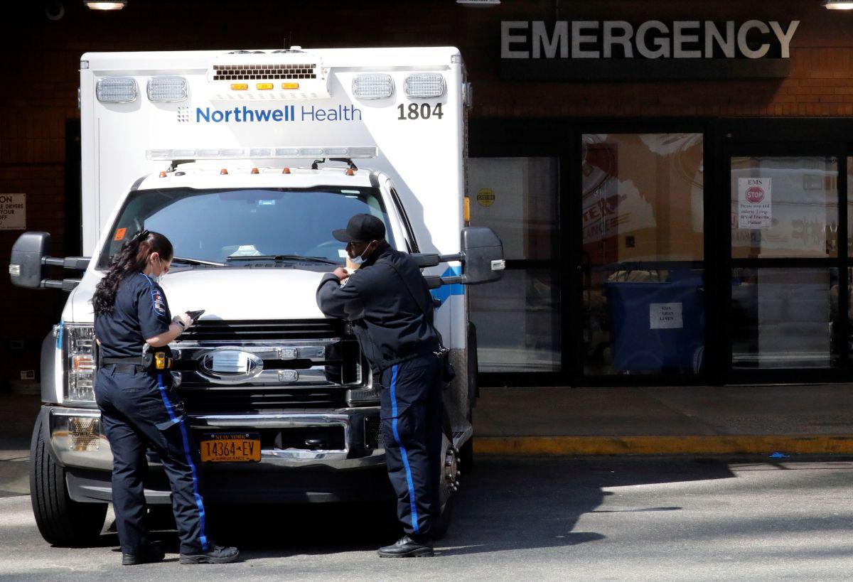 Entrada a urgencias del hospital Bellevue en Nueva York.