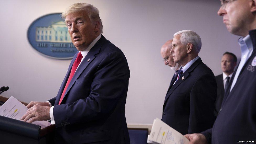 Coronavirus   La marcha atrás de Trump a la idea de mantener la economía parada por el COVID-19