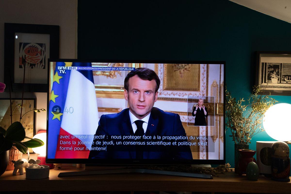 El presidente Emmanuel Macron se dirigió a los franceses el lunes.