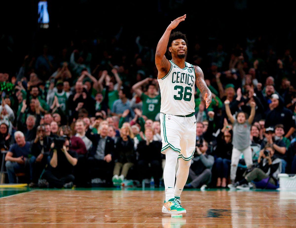Marcus Smart, de los Boston Celtics, fue uno de los jugadores de la NBA que dio positivo por coronavirus.