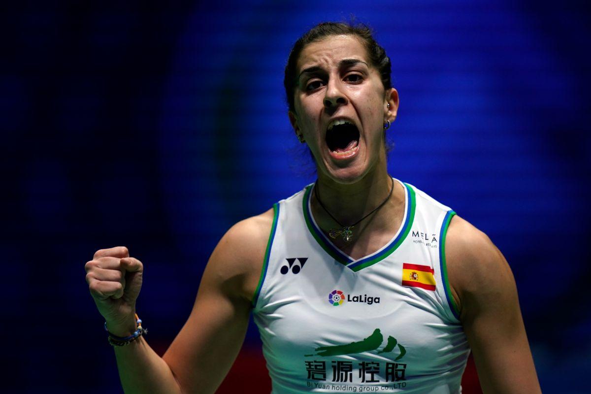 Campeona olímpica Carolina Marín entrena a ritmo de flamenco