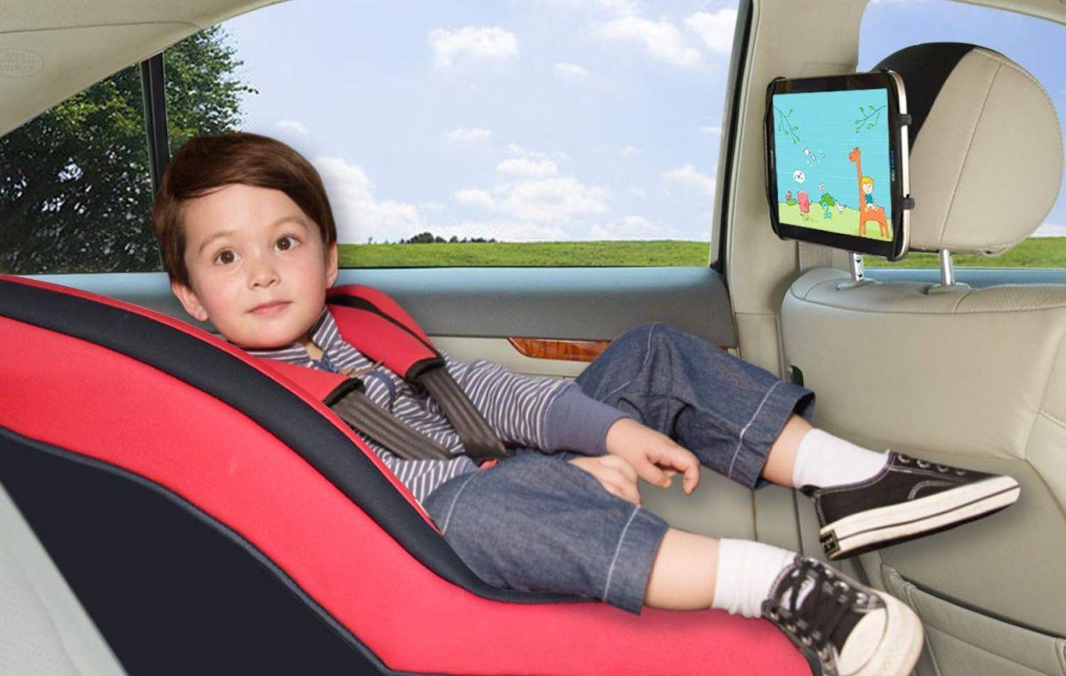 4 opciones de soportes de tabletas para mantener a tus hijos entretenidos durante viajes largos
