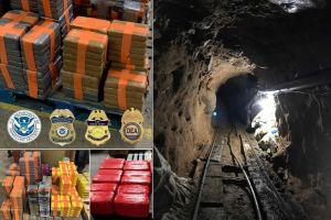 Imágenes: Hallan narcotúnel con miles de kilos de droga en la frontera de Tijuana con San Diego