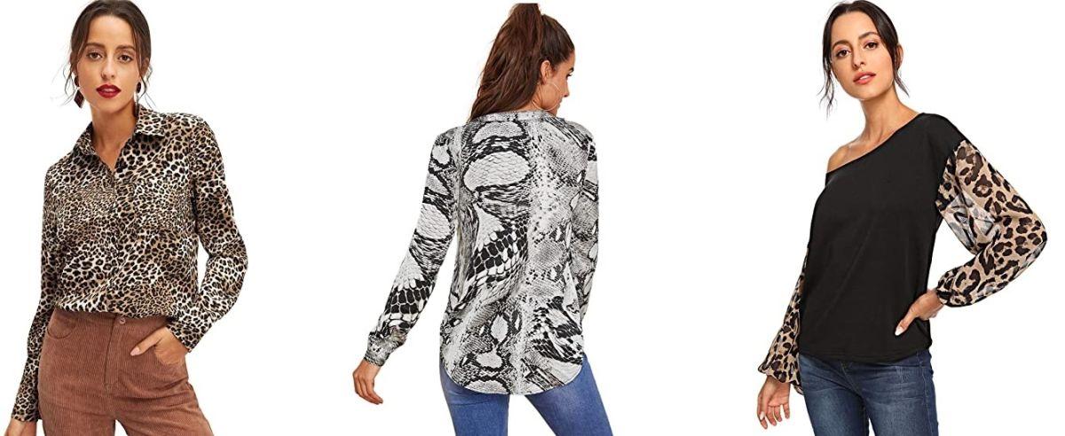 Los 10 mejores estilos de blusas con animal print para mujer