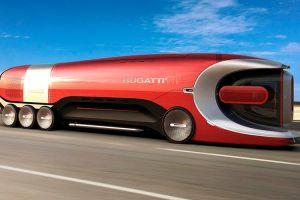 Impresionante, así es el camión de Bugatti que le haría competencia a Tesla