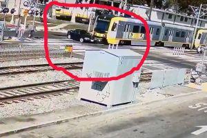 VÍDEO: Un hombre casi muere arrollado por un tren