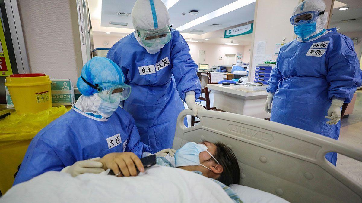 Un paciente con coronavirus.
