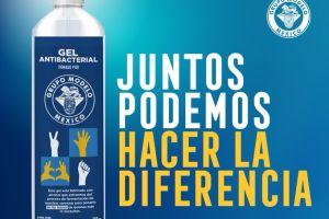 Grupo Modelo dona 300,000 botellas de gel antibacterial hospitales mexicanos