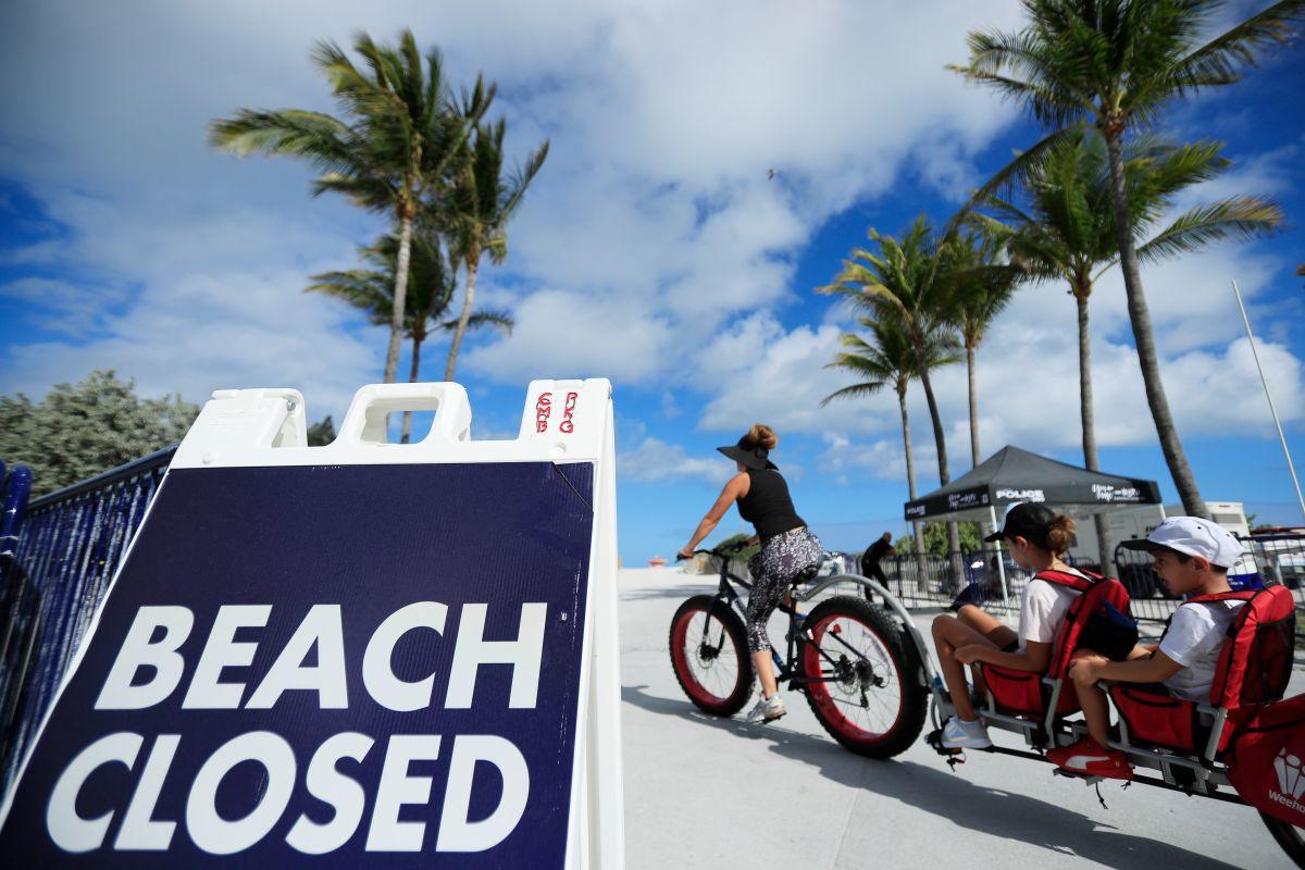 Vuelven a cerrar las playas de Miami ante el aumento de los casos de coronavirus