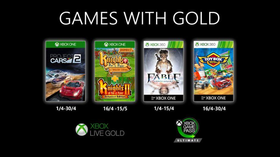 Xbox pondrá juegos gratis a partir de abril de 2020