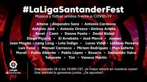 La Liga de España juntará estrellas de la música y fútbol en concierto virtual