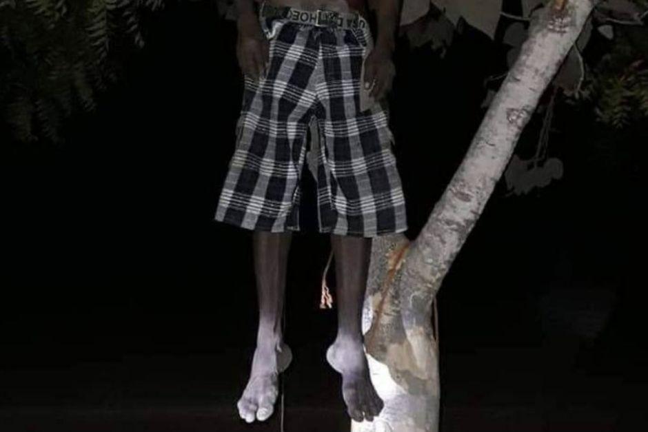 Lo ahorcan en árbol y en narcomensaje advierten que lo mismo pasará violadores y ladrones