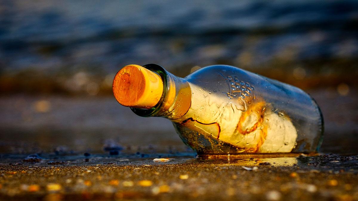Un mensaje en una botella resulta en una inusual amistad