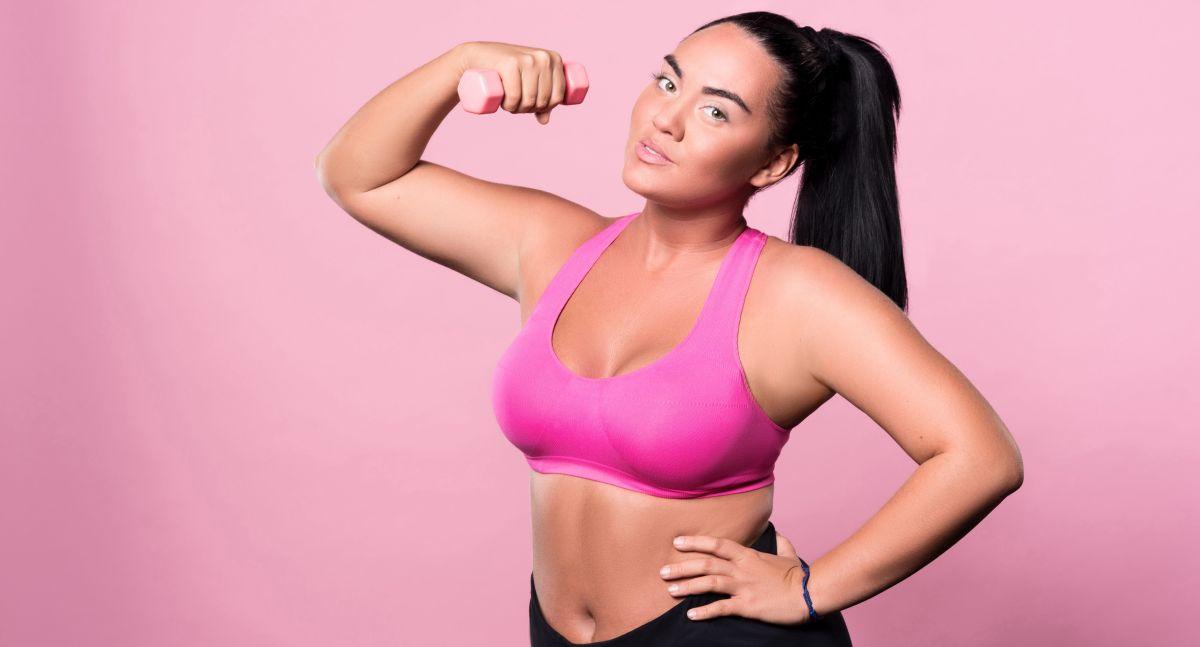 Ropa deportiva Plus Size para mujeres ejercitarse en su propia casa
