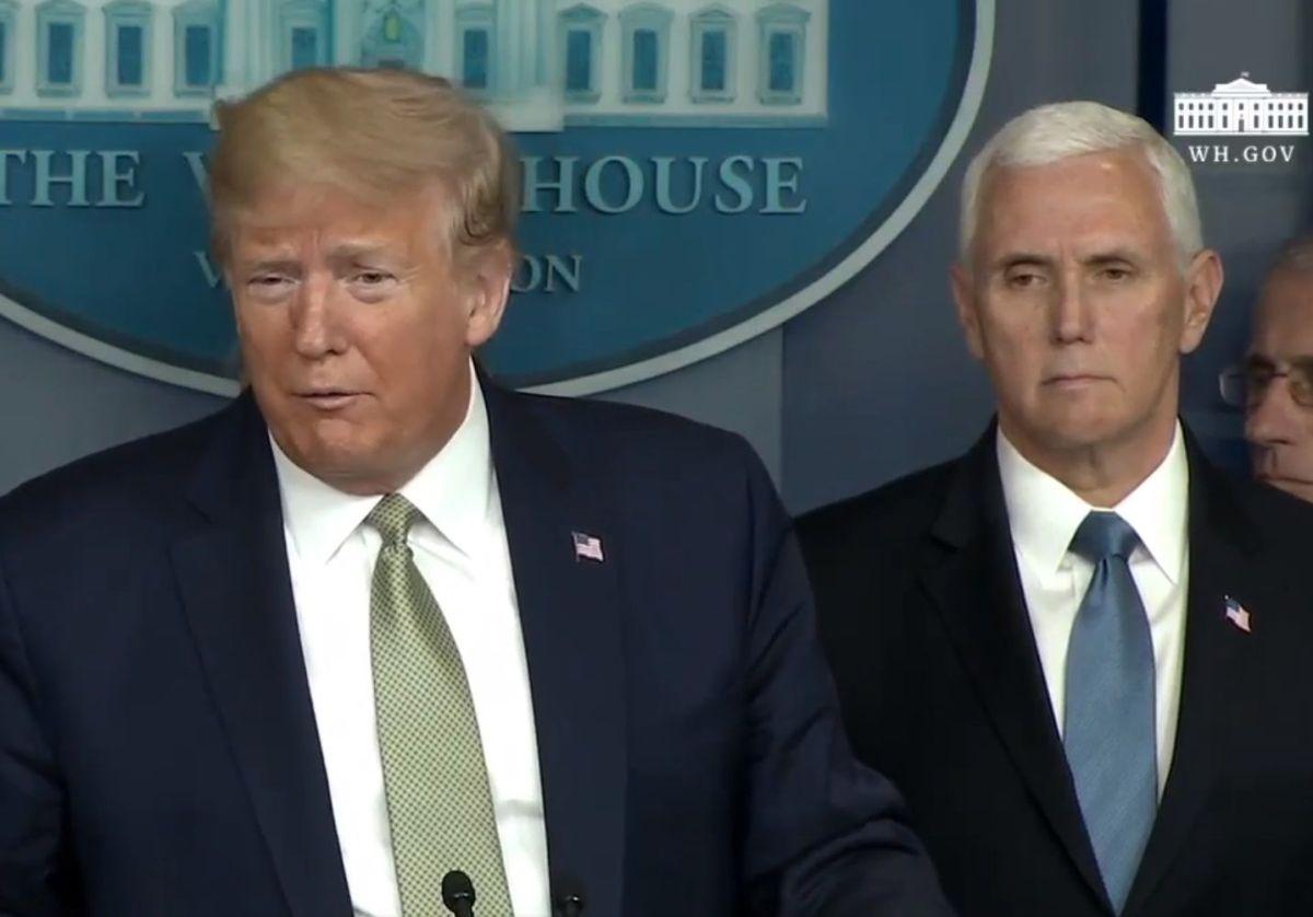 El presidente Trump y el vicepresidente Mike Pence.