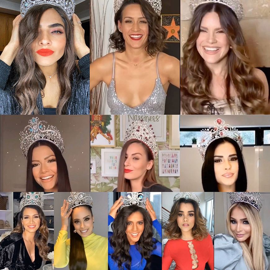 Las Reinas de  Nuestra Belleza Latina.