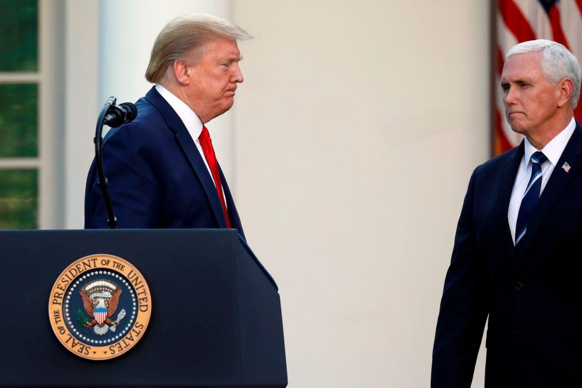 El vicepresidente sigue los pasos de Trump al negarse a cubrirse la cara.