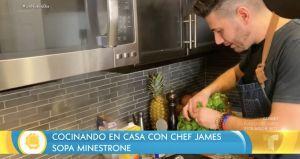 Recetas de cuarentena: Sopa de Minestrone del Chef James