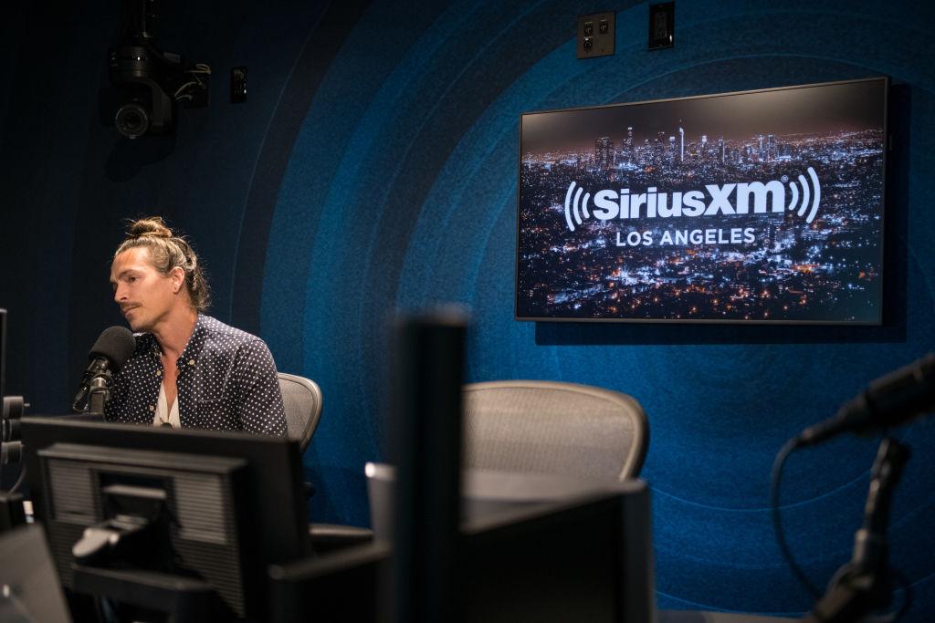 La cabina de SiriusXM en Los Angeles.
