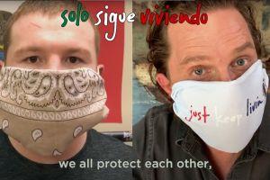 Canelo Álvarez y Matthew McConaughey suben al ring para noquear con mascarillas al coronavirus