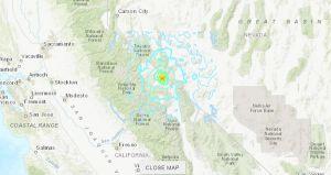 Un terremoto de magnitud 5.2 golpea el área fronteriza California-Nevada cerca de Yosemite