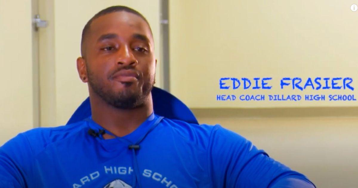 El entrenador Eddie Frasier en una imagen de una entrevista publicada en YouTube.
