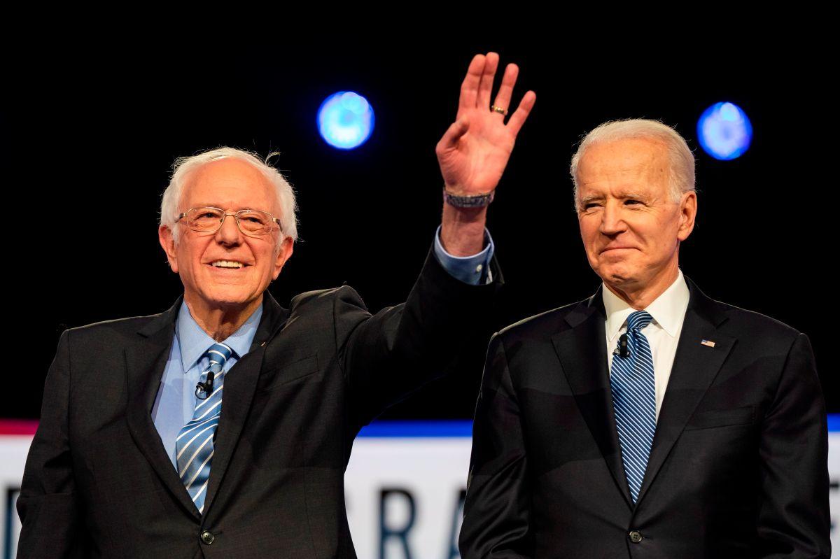 Sanders dijo que trabajaría con Biden para sacar adelante ideas progresistas.