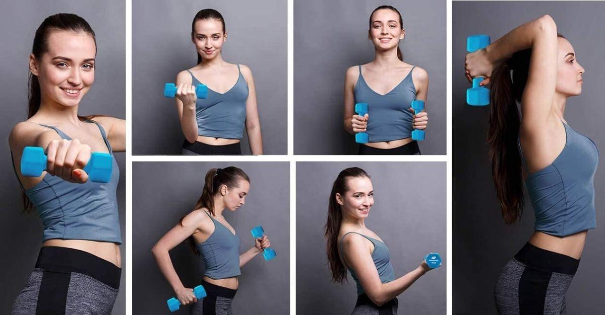 6 mancuernas que te ayudarán a tonificar tus músculos mientras bajas de peso
