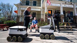 Supermercado de Washington utiliza robots para hacer entregas