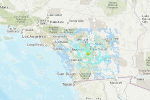 Cadena de terremotos en el condado de Riverside se siente hasta San Diego