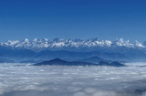 """El Himalaya puede verse desde la India por primera vez en """"décadas"""""""