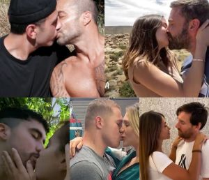 Ricky Martin, Messi, Ben Affleck, Bad Bunny y más se besan con su parejas en video de Residente