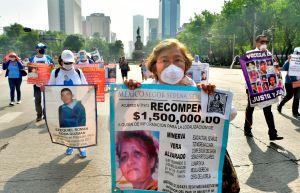 FOTOS: Madres mexicanas salen del confinamiento para exigir de nuevo la búsqueda de sus hijos