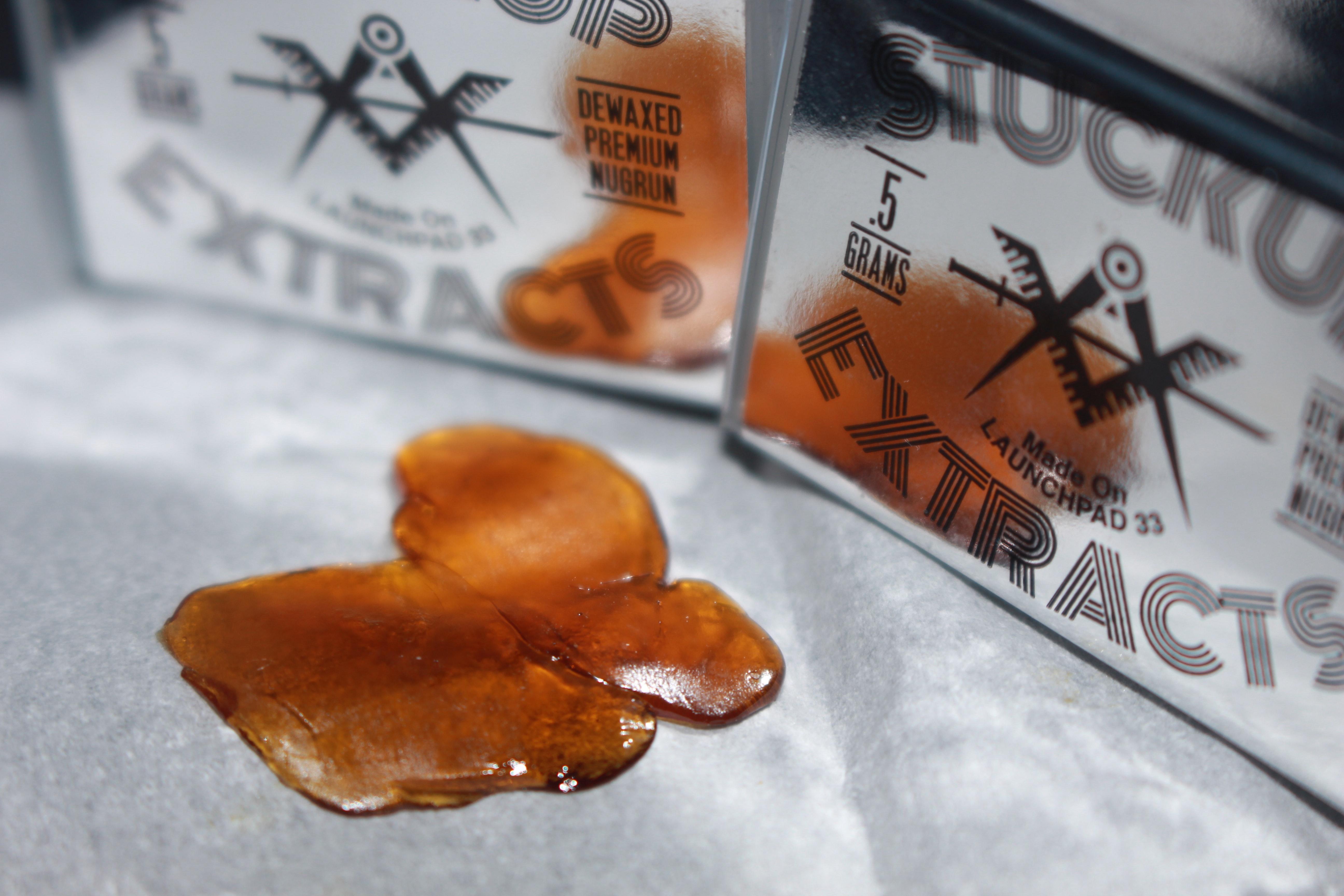 Resina de cannabis (marihuana) concentrada obtenida con butano.