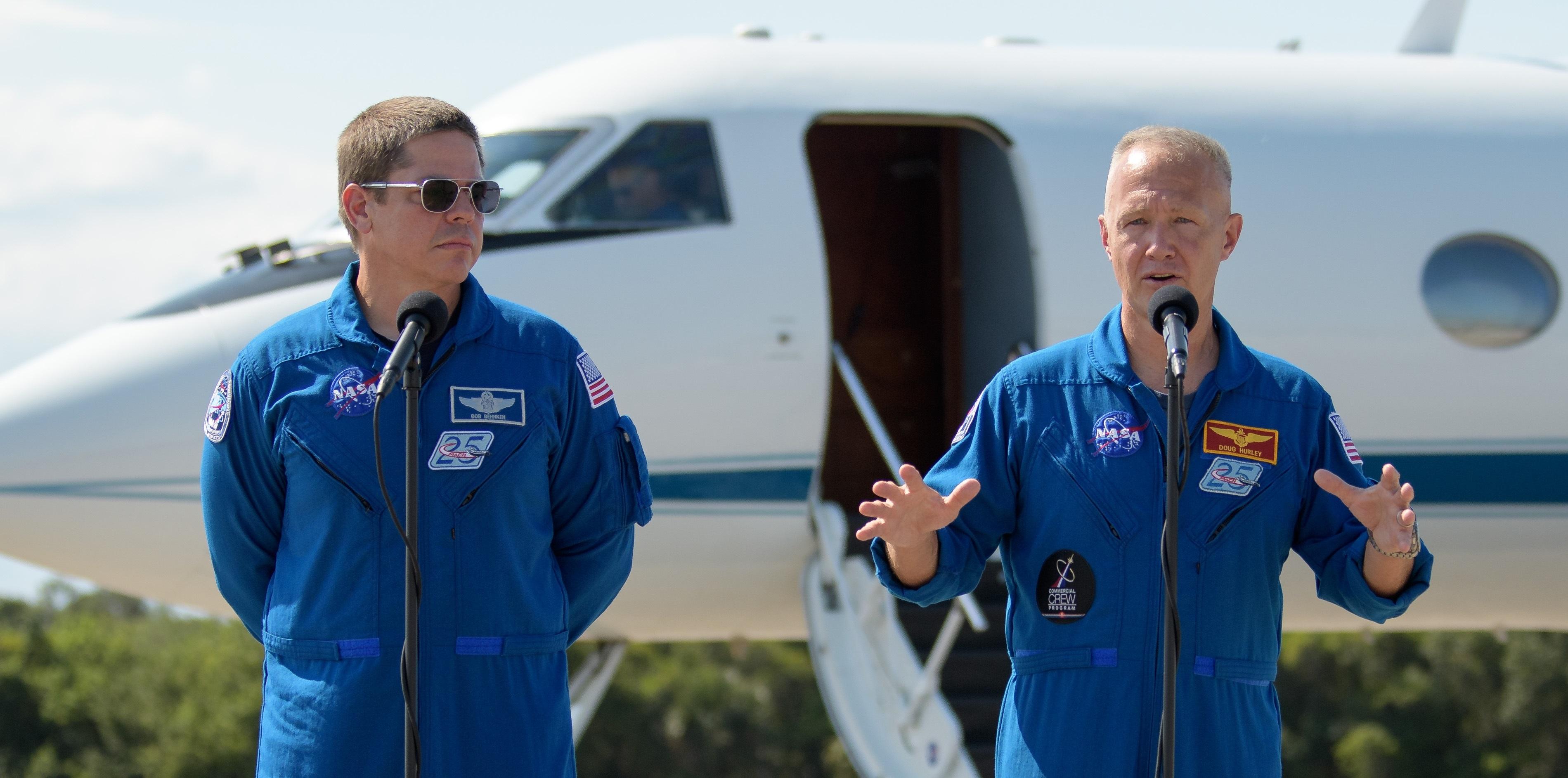 Astronautas llegan a Florida