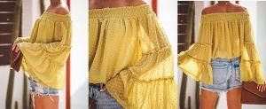 5 atractivas blusas sin hombros que te darán un aspecto más juvenil y alegre