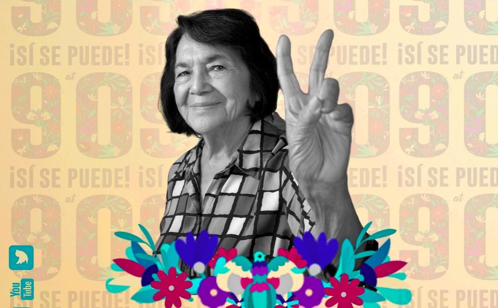 ¡Sí se puede a los 90! Así festejará Dolores Huerta su cumpleaños virtual