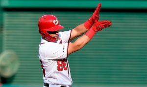 Nationals de Washington inmortalizan a Gerardo Parra y su 'Baby Shark' en anillos de campeones