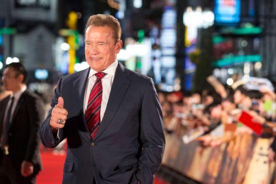 "Arnold Schwarzenegger en la premiere de ""Terminator: Dark Fate"" en Tokio."