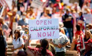 Alarma en California por protestas de grupos extremistas contra 'lockdowns' por COVID-19