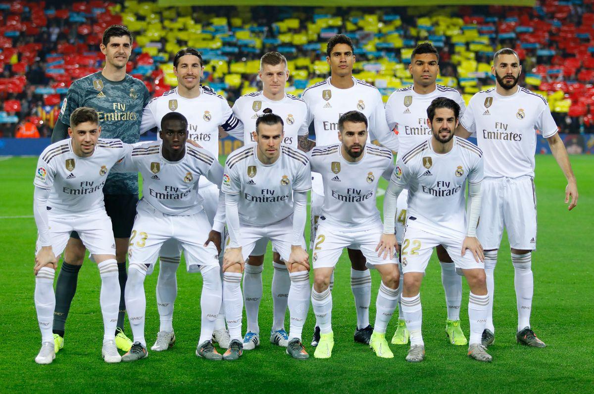 El Real Madrid antes de disputar el Clásico de España.