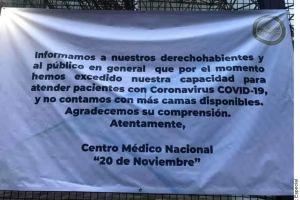 Coronavirus: Saturados dos importantes hospitales de CDMX